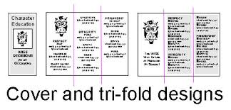desktop publishing creating a tri fold brochure