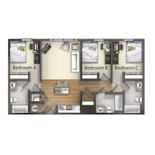 What Is Wh In Floor Plan by 3 Bedroom Valentine Commons