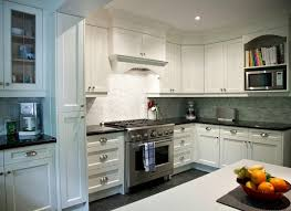 White Cabinets Granite Countertops by White Cabinets Backsplash For Glossy Look Home Design And Decor