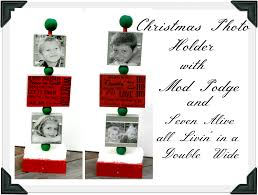 christmas photo holder with mod podge photo holders and craft