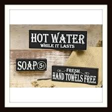 signs decor lovely bathroom signs decor for vintage 93 vintage bathroom decor