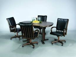 Dining Chairs With Casters Wholesale Wheels And Arms Canada Casual