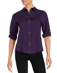 ivanka blouse lyst ivanka button front blouse in purple