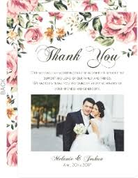 thank you wedding cards cheap custom wedding thank you cards inviteshop