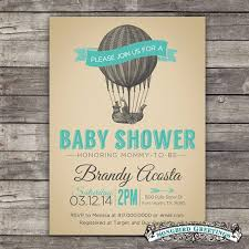 items similar to air balloon baby shower invitation