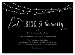 black tie invitations strings of lights by green