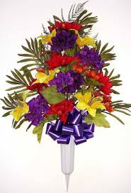 Silk Flowers Arrangements - graveside flowers artificial flower arrangements for cemeteries