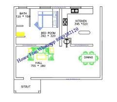 free 600 sq ft kerala house plan 2 cent