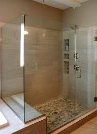 Glass Shower Doors Cost Glass Shower Enclosure Happyhippy Co