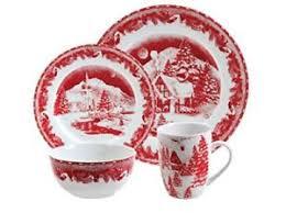 christmas dinnerware christmas dinnerware set winter cottage porcelain dinnerware set 16