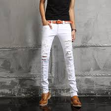 Ripped Denim Jeans For Men White Ripped Skinny Jeans For Sale U2013 Global Trend Jeans Models