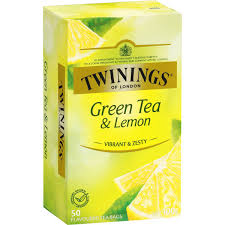 twinings green tea with lemon tea bags 50pk 100g woolworths