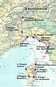 Cinque Terre Map Piemont Korsika Cinque Terre