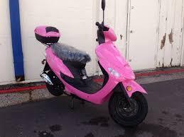 amazon com taotao atm 50cc sporty scooter pink sports u0026 outdoors