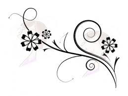digital black flowers swirls and flourishes decorations clip