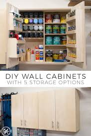 how to diy cabinet diy wall cabinets with 5 storage options plans