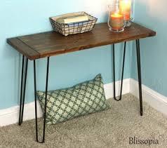 Hairpin Leg Console Table Console Tables U2014 Blissopia Rustic Farmhouse Reclaimed Wood