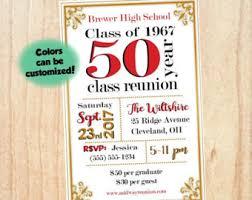 high school class reunion invitations class reunion invite etsy