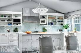 Chandelier In The Kitchen Silver Lining New England Home Magazine