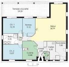 plan plain pied 3 chambres plan maison plain pied 2 chambres plans de maisons plan maison 6