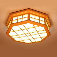 octagon ceiling light fixture modern japanese tatami wood octagon led ceiling l bried chinese