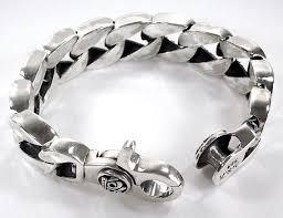 mens bracelet sterling silver images Fine design sterling silver mens bracelet crown cuban men s biker jpg