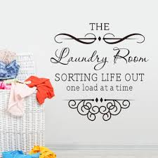 Laundry Room Decorations For The Wall by Aliexpress Com Buy Wall Sticker Quotes Bathroom Laundry Room