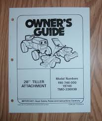 mtd 19746 28 in tiller attachment owners manual with illustrated
