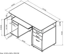 Computer Desk Depth Office Desk Dimensions Standard Desk Depth Standard Office Desk