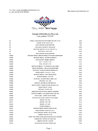 bsa triumph norton motorcycle parts price list