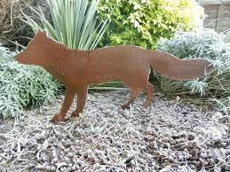 to buy garden ornaments fox 2 designs fox garden fox