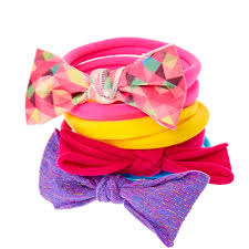 hair bobbles 8 pack rainbow bow hair bobbles s
