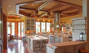ceiling wonderful french country kitchen with rustic wood