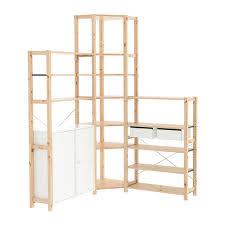 ivar ikea ivar 3 sections corner pine white 145 145x30x226 cm ikea