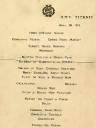 titanic menu sells for 46 000 at auction bbc news