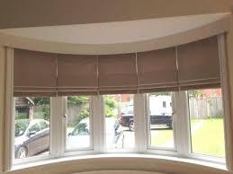 Cordless Roman Shades With Blackout Lining Bay Window Roman Shades Decor Window Ideas