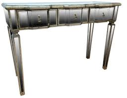 vintage style console table vintage inspired linda mirrored 3 drawer console table wow interiors