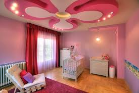 pink ceiling decorations with recessed lighting ideas for baby