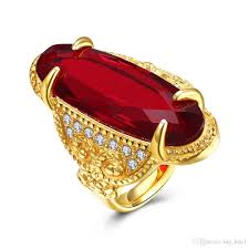 red stones rings images 2018 new big red gem ring men cool jewelry gold color large zircon jpg