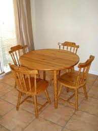 round wood dining table with leaf wooden kitchen table wooden kitchen table and chairs view larger