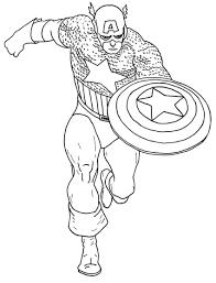 captain america civil war coloring pages funycoloring