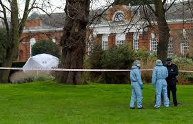 man dies after setting himself on fire yards from prince william