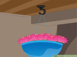 How To Make A Mini Chandelier 3 Ways To Install A Swag Hook Wikihow