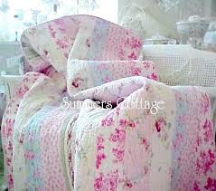 shabby chic patchwork quilts shabby chic roses vintage look double