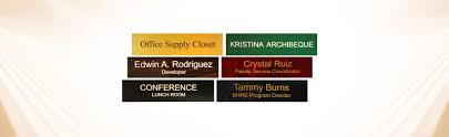 Wall Mounted Nameplate Holders Lasercrafting Com Engraved Office Name Plates And Holders At