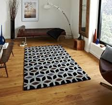 fusion geometric design hand tufted soft wool u0026 viscose rug floor