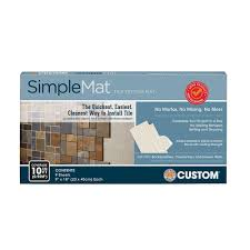 How To Install A Glass Tile Backsplash In The Kitchen by Custom Building Products Simplemat 10 Sq Ft Tile Setting Mat