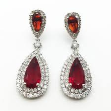 heavy diamond earrings online shop luxury zircon big waterdrop heavy drop earrings