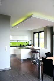 faux plafond design cuisine eclairage led plafond spot socialfuzz me