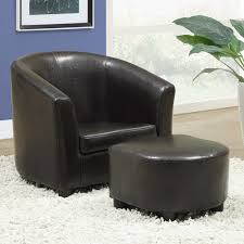 Chair With Matching Ottoman Monarch Juvenile Chair 2 Pcs Set Brown Leatherlook